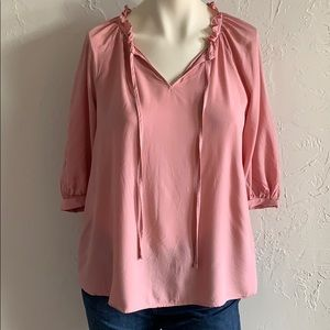 a.n.a.   NWOT Dusty Rose Blouse 3/4 Sleeves Size S